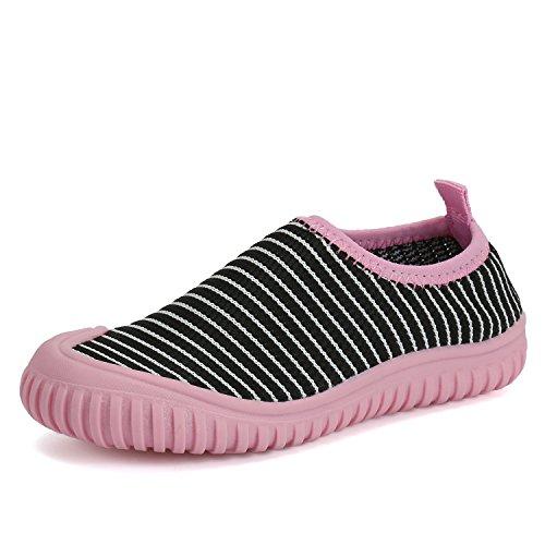 Sommer Freizeit Gestrickte Schuhe Slip-on Sneakers Zehenschutz Weiche Rutschfeste Loafer Mädchen Jungen Kinder Kleinkind Grau