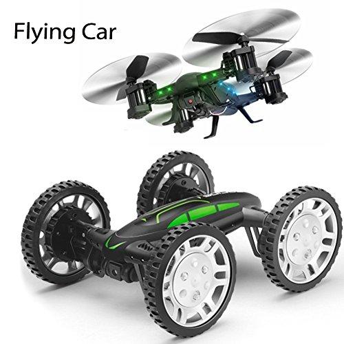 Preisvergleich Produktbild ANKOUJA DIY RC Drohne Quadrocopter Fahrad Buggy mit Kamera live Übertragung HD Wifi Handy Fernbedienung 360°Flip RC Toy LED Beleuchtung 2x Akku Kopflos Modus