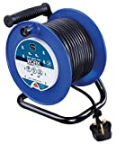 Masterplug LDCC3013/4BL 13amp 4 Socket 30m Open Cable Reel - Blue