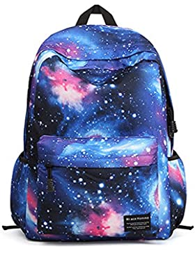 Minetom Colorato Universo Nebulosa Nylon Borsa Zainetto Donna Spalla Zaini Femminili Scuola Superiore Zainetti...