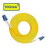 10Gtek OS1/OS2 LC-LC LWL Patchkabel Singlemode 30-Meter, 9/125µm Duplex Glasfaser Kabel, LSZH