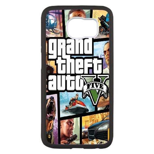 Für Gta Handy (Grand Theft Auto 5 R0V4Vg Samsung Galaxy S6 Handy-Fall Hülle Schwarz V4D4KC DIY Benutzerdefinierte Telefon-Kasten Hülle)
