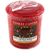 Yankee Candle Samplers Candele Votive Red Apple Wreath, Cera, Rosso, 4.5 x 4.5 x 5.3 cm