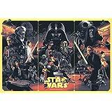 Athah Designs - -Poster -Star-Wars-Leia-Organa-Darth-Vader-Luke-Skywalker-Han-Solo-stormtrooper-Yoda-Boba-Fett-Ewok-R-D-grandmoff-tarkin-Obi-Wan-Kenobi-Jaba-The-Hut-collage Wall Poster 13*19 Inches Matte Finish