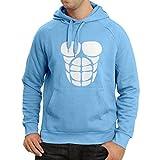 Kapuzenpullover Für Ihr Muskelwachstum - lustige Trainingshemden (Large Blau Weiß)