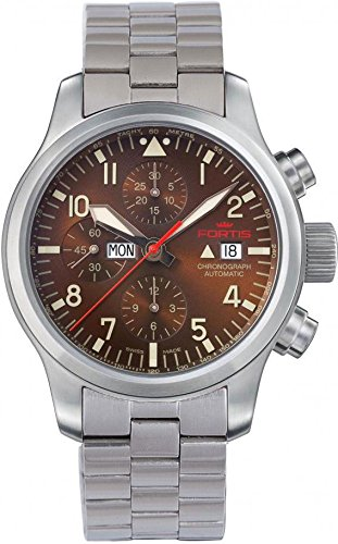 Fortis B-42 Aeromaster Dawn 656.10.18.M Mens Chronograph Excellent readability