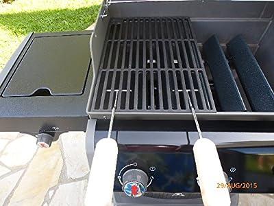 Gusseisen Grillrost (3,7 kg !) für WEBER SPIRIT E 210 bis 2012 + 2 Griffe Grill Guss A