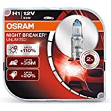 OSRAM NIGHT BREAKER UNLIMITED H1, Halogen-Scheinwerferlampe, 64150NBU-HCB, 12V PKW, Duobox (2 Stück)