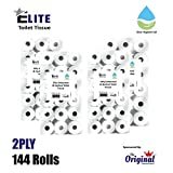 144 Rolls 2Ply Quilted and Embossed Elite Toilet Tissue