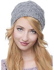 Peggy Hat - Bonnet tendance tricoté pour les dames longues - fait main au Népal - 2014, chapeau tricoté en polaire, chapeau mou