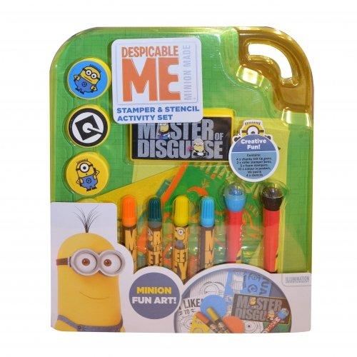 Anker Despicable Me Minions Stempel & Stencil Set-, Schablonen, Roller Briefmarken, Filz Spitze Stifte, Tinte Pad Viel Spaß (Schablone Roller)
