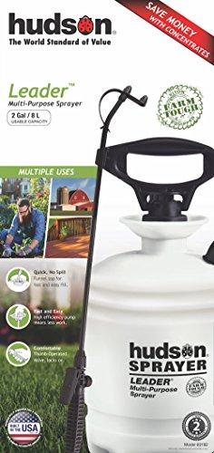 HUDSON 60192 Leader Farm Tough Sprayer with Viton 2 gal, White - 2 Gallon Poly Sprayer