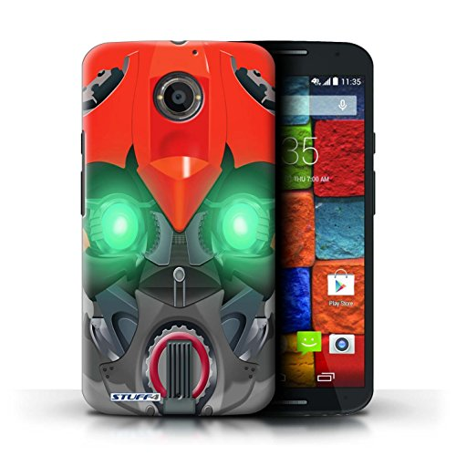 Kobalt® Imprimé Etui / Coque pour Motorola Moto X (2014) / Opta-Bot Jaune conception / Série Robots Bumble-Bot Rouge