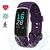 LIFEBEE Fitness Armband, Fitness Tracker mit Pulsmesser Smartwatch Wasserdicht IP68 Fitness Uhr sportuhr Aktivitätstracker, Damen Herren 0.96 Zoll Schrittzähler Smart Watch Uhr für Android iOS (Lila)