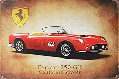 Ferrari 250 GT California Spyder, Metal Tin Sign, Size 8