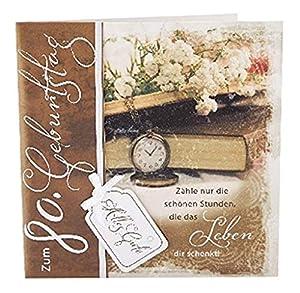 Depesche 4907.010Tarjeta de felicitación Emotions en diseño Elegante, 80. Cumpleaños, Multicolor