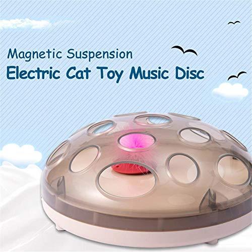 Campinery Katze Interaktion Lustige Katzenspielzeug Elektrische Feder Bewegung Chaser Training Katzenspielzeug Wiederaufladbare Magnetische Federung Springenden Feder Fangen Spiel Steadfast -