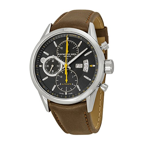 raymond-weil-freelancer-black-dial-stainless-steel-brown-leather-mens-watch-7730-stc-20021