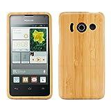 kwmobile Funda para Huawei Ascend Y300 - Carcasa Protectora de [bambú] para móvil - Case [Duro] en...