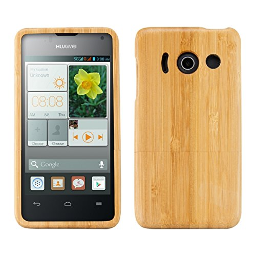 kwmobile-natural-wood-case-for-the-huawei-ascend-y300-in-bamboo-light-brown