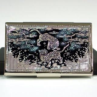 Mother of Pearl Leopard Kreditkarten, Visitenkarten, aus Edelstahl, dünn, Id Karten Halter Wallet Case