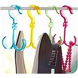 Home Hacks Ties Belts Scarfs Keys Hanger Organizer Holder Hanger (Assorted Colours).