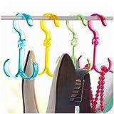 #8: Home Hacks Ties Belts Scarfs Keys Hanger Organizer Holder Hanger (Assorted Colours).