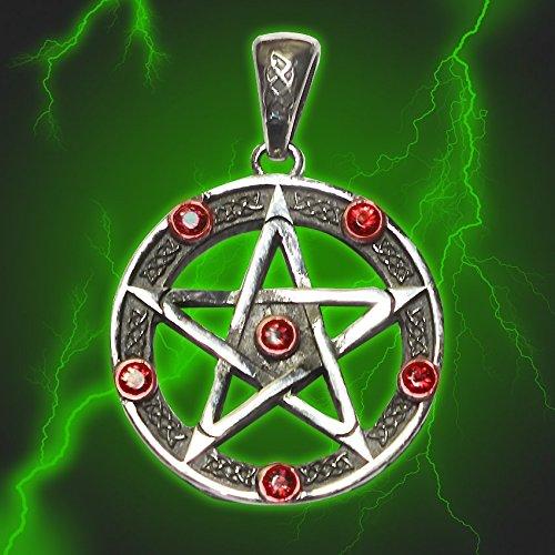 Amuleto Pentacolo Pentagram Universale Stella Vickie Garnet
