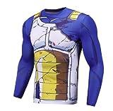 T-shirt DBZ Vegeta | Tshirt Sport Musculation Fitness | Dragon Ball Z Vêtement Déguisement (S)