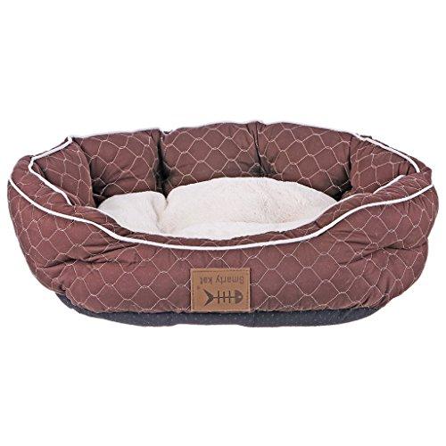 Pet Nest Quilted ottagonale del nido della fossa di scolo felino gatto del cane del nido Bed Kennel - Bed Kennel