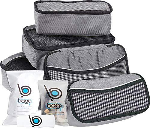 Packwürfel 5pcs Wert Set für Reisen - Plus 6pcs Gepäck Veranstalter Zip Beutel -