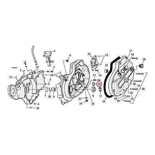 Sprocket Shaft Bearing (MCS Sprocket Shaft Bearing Spacer.100 Inch - 77-03 XL.)