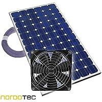 """Ventilador de invernadero Ventilador solar """"Plug & Play"""" Ventilador Invernadero solar, 12V, completo …"""