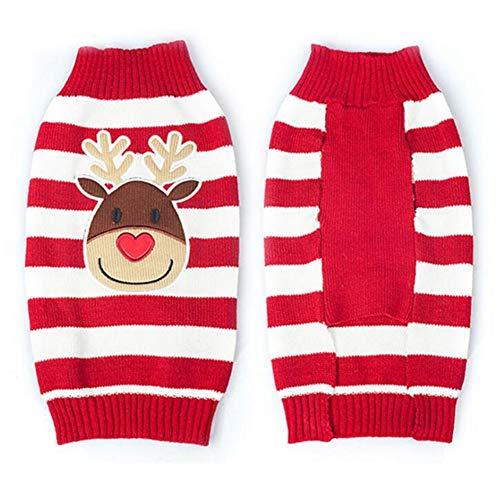 Katze Kostüm Waren - rote Nette Haustier welpen Katzen Hund warme Pullover Strick Waren Strick Kleid Mantel Kleidung kleidet Kleinen Hunde welpen Strick Jacke weihnachtsren Kostüm