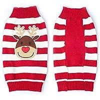 Smoro Rojo Lindo Mascota Cachorro Gato Perro cálido Jersey suéter Prendas de Punto Abrigo Ropa Ropa pequeño Perro Cachorro suéter Navidad Reno Traje