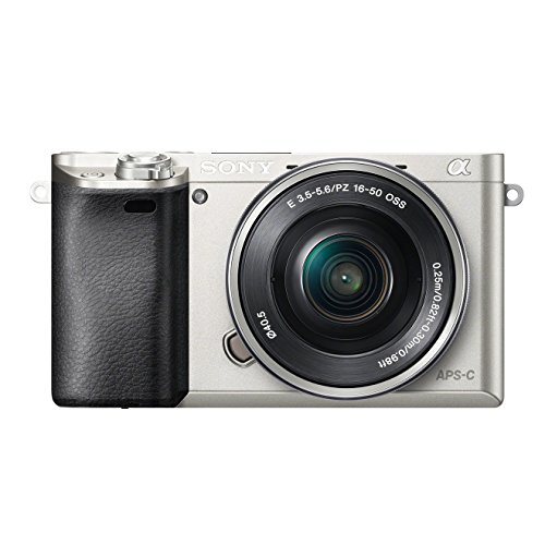 Sony Alpha 6000 System kamera 24 Megapixel 7,5cm 3LCD Display Exmor APSC Sensor Full HD High Speed Hybrid A Finkl SELP1650 Objektiv silber