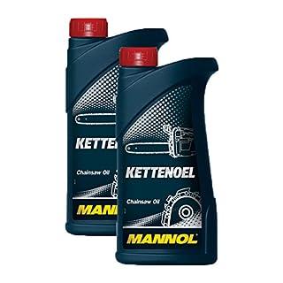 2X MANNOL MN1101-1 Kettenöl Sägekettenöl Garten Öl 1L