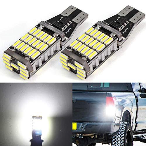 T10 LED Canbus T15 921 906 Ampoule à LED de lumière de Voiture sans Balai Canbus sans Erreur Blanc 579 901 W16W AK-4014 Ampoule de Lampe Super Bright Wedge pour la Sauvegarde, Lampe latérale