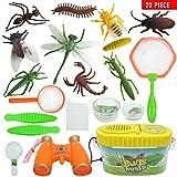 GSYClbf Einzigartige Kreativität, Exquisite Fashion 20-teiliges Kinder-Lupen-Teleskop künstliche Insektenspielzeug-Set Multi