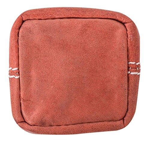 Portafoglio in cuoio Gusti Pelle studio ''Linus'' Portamonete particolare Borsellino in pelle Banconote Monete Vintage rosso 2A139-22-10