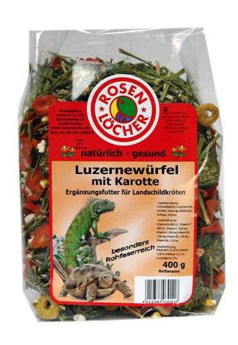 Rosenlöcher- Luzernewürfel für Landschildkröten 400g