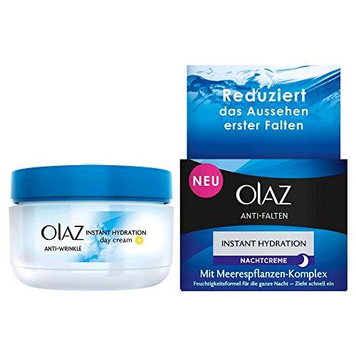 Olaz Anti-Falten Instant Hydration Nachtcreme Anti-Aging Hautpflege, 1er Pack (1 x 50 ml)