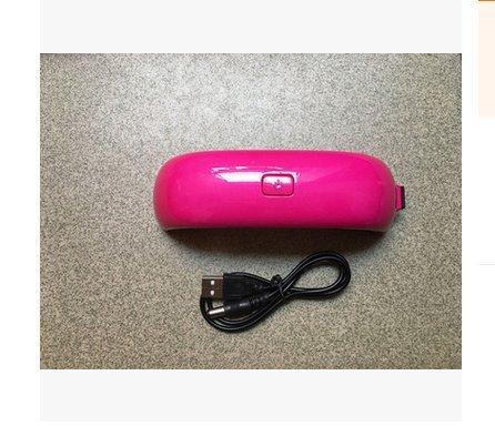 Romote 1pc Mini lampe LED sèche-ongles USB pour Guérir Sèche-Ongles lampe Sèche-Brillants Gel Led Lamp Rainbow Outils de manucure Nail Art (Red Rose)