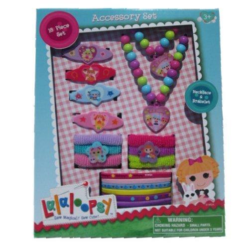 Lalaloopsy Accessory Gift Set for Kids - 18 Piece Lalaloopsy Accessory Necklace & Bracelet Box Set