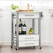 Suchergebnis auf Amazon.de für: küchenwagen edelstahl | {Küchenwagen mit granitplatte 56}
