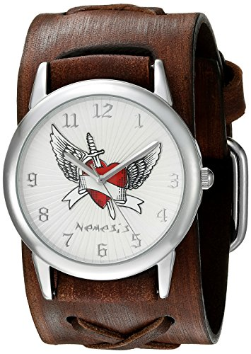 Nemesis Women's 923BFXBS Angel Heart Series Analog Display Japanese Quartz Brown Watch