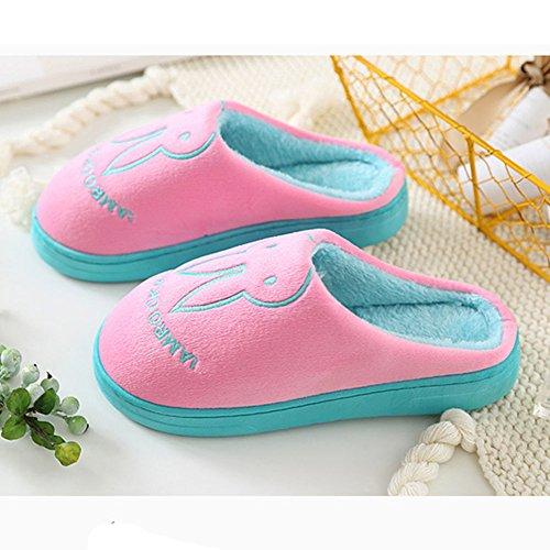 Paragon Hommes Femmes Hiver Chaussons Peluche Pantoufles Mignonne Maison Chaussons Hiver Chaussures Chaudes Slippers 03 Rose