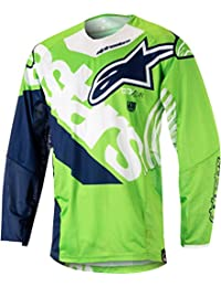 e51f66811 Camiseta De Mx Alpinestars 2018 Techstar Venom Verde-Blanco-Azul (M