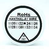 Résistance de type Kanthal A1bobine fil 100ft (30m) 22–32G AWG