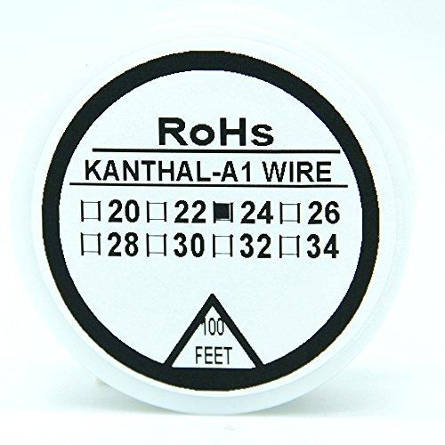 Preisvergleich Produktbild Kanthal A1 Typ Widerstand Draht 100ft (30m) Spule 22-32G AWG (24G)